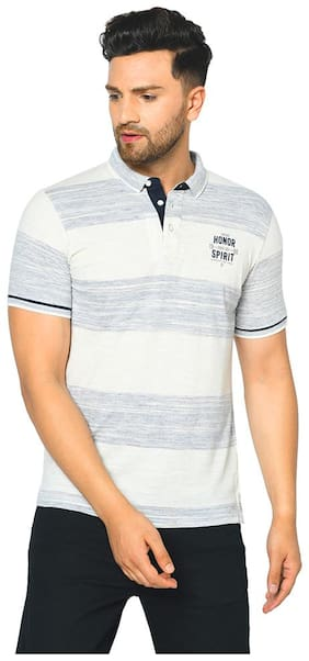 Men Polo Collar Striped T-Shirt Pack Of 1