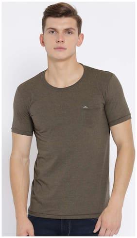 Duke Men Brown Mix T-Shirt