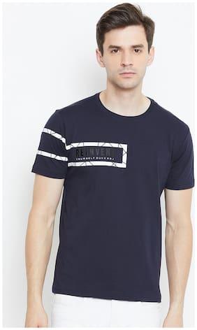 Duke Men Slim fit Round neck Printed T-Shirt - Blue