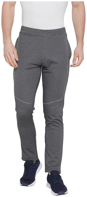 Duke Men Cotton Track Pants - Grey