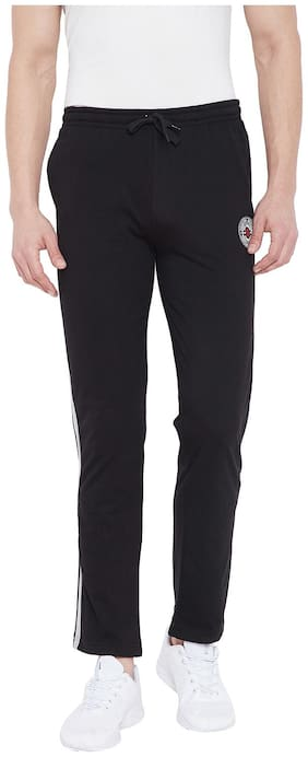 Duke Men Cotton Track Pants - Black