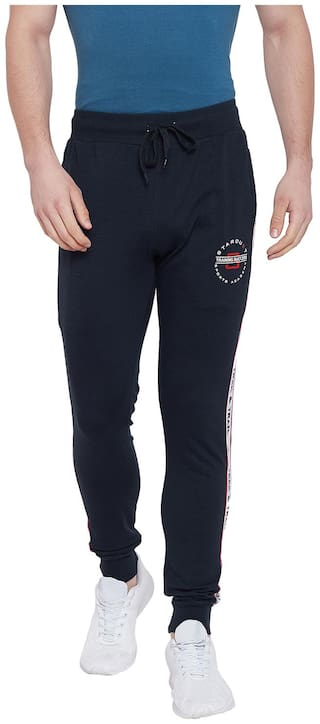 Duke Men Cotton Track Pants - Blue