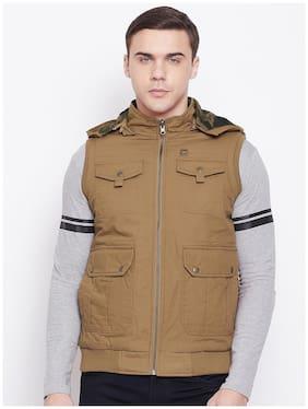 Men Cotton Sleeveless Bomber Jacket