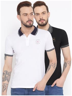Men Polo Neck Logo Tees T-Shirt