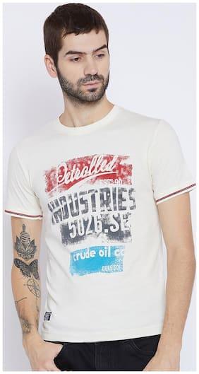 Duke Men Regular fit Round neck Printed T-Shirt - White