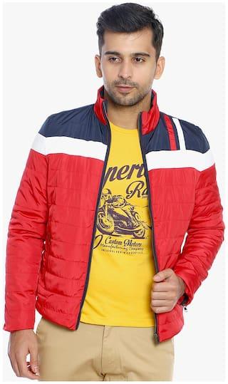 Duke Red Nylon Synthetic Jacket