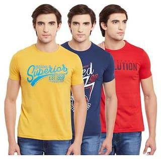 Duke Men Multi Regular fit Cotton Round neck T-Shirt - Pack Of 3