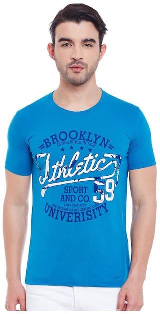 Duke Men Blue Regular fit Cotton Round neck T-Shirt - Pack Of 1