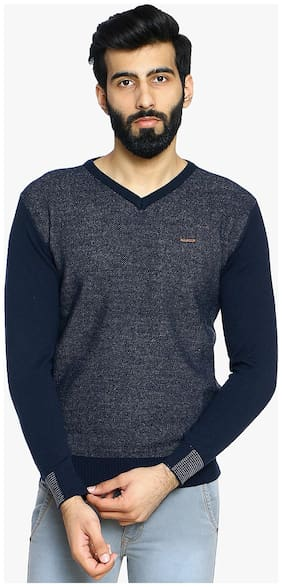 Duke Stardust Navy 100% Acrylic Sweater