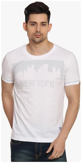 Men Scoop Neck Printed T-Shirt