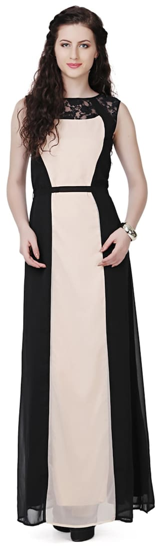EAVAN Beige Polyester Dress