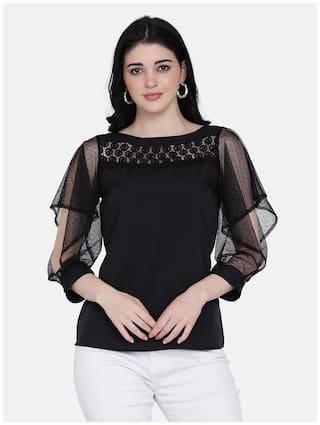 Eavan Women Solid Regular top - Black