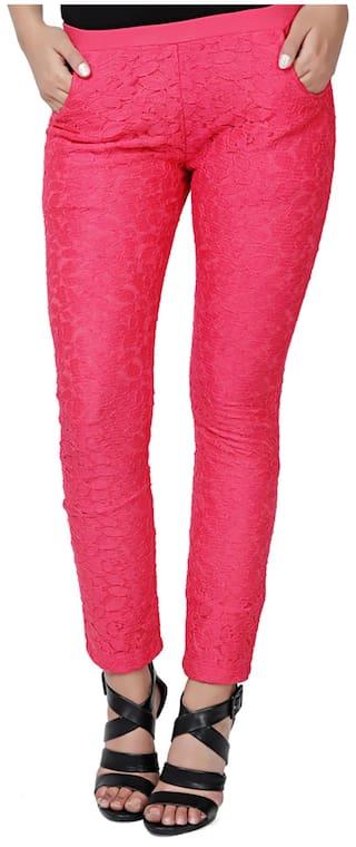 EAVAN EAVAN Viscose Pink Pink Jegging 5Tpq7xx