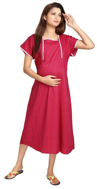 Buy Eazy Women s Maternity Nighty Online at Low Prices in India ... 3e5427fa2