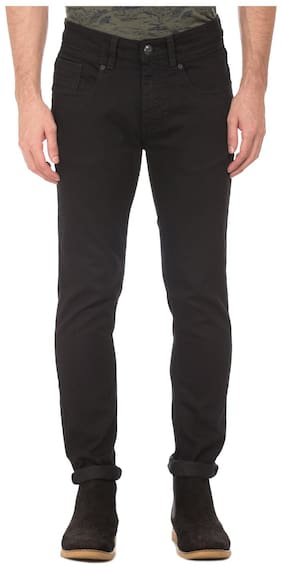 ED Hardy Men's Mid Rise Regular Fit Jeans - Black