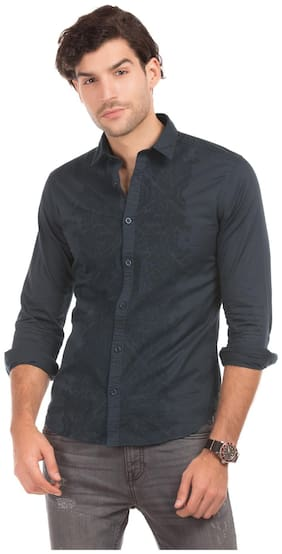 Men Slim Fit Embroidered Casual Shirt