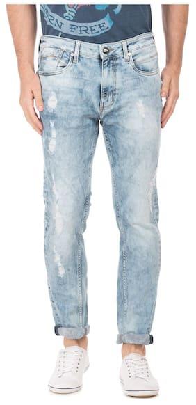 ED Hardy Men Mid Rise Slim Fit ( Slim Fit ) Jeans - Blue