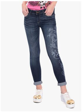 Ed hardy Blue Cotton Jeans