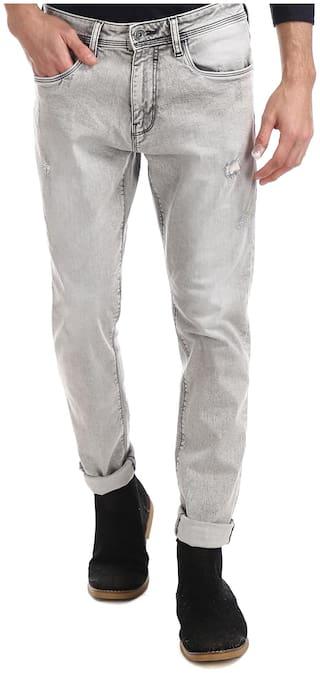 ED Hardy Men Grey Slim Fit Jeans