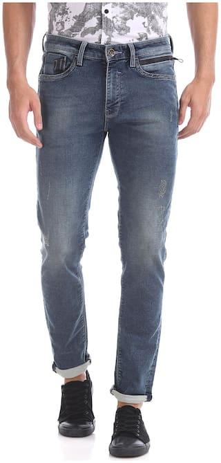 ED Hardy Men Blue Skinny Fit Jeans