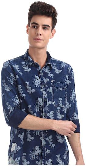 Men Slim Fit Floral Casual Shirt Pack Of 1