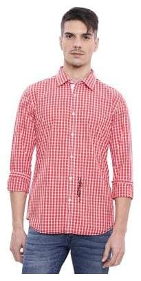 Men Slim Fit Checked Casual Shirt ,Pack Of Pack Of 1