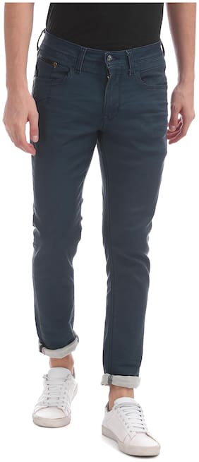 Men Skinny Fit Mid Rise Jeans