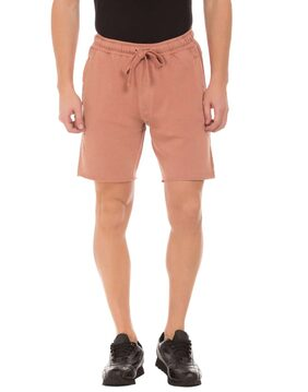 Ed Hardy Men Solid Pink Shorts