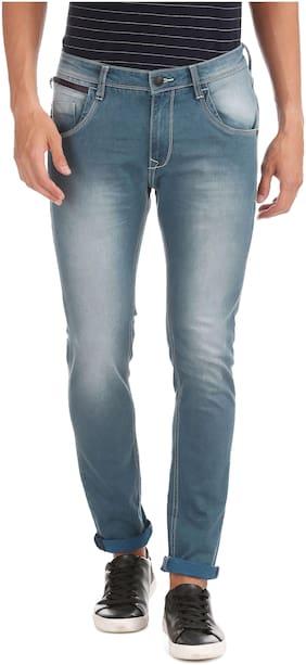 Men Regular Fit Low Rise Jeans Pack Of 1