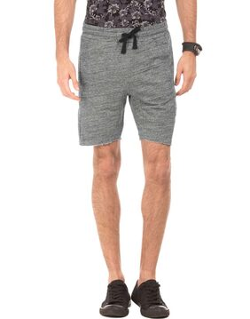 Ed Hardy Men Solid Grey Shorts