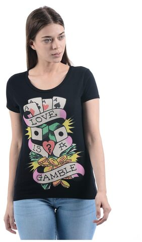 Ed Hardy Women Casual T-Shirt