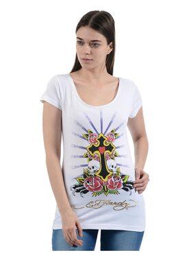 Ed Hardy Women Casual T-Shirt