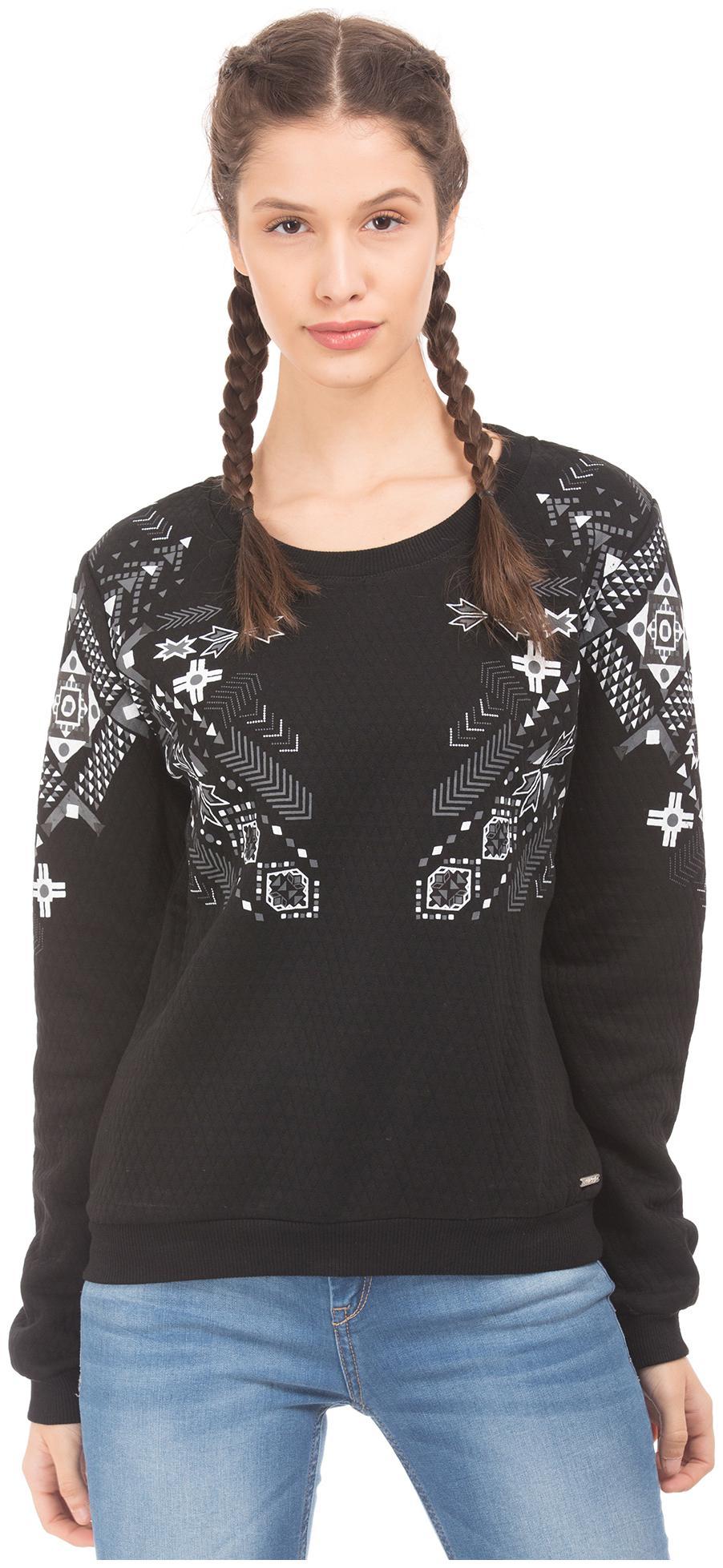 ED Hardy Women Printed Sweatshirt   Black