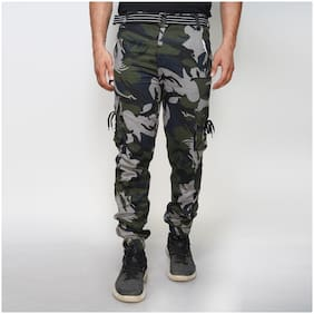 EditLook Men Multi Camouflage Slim fit Cargos