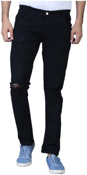 EditLook Men Black Regular Fit Jeans