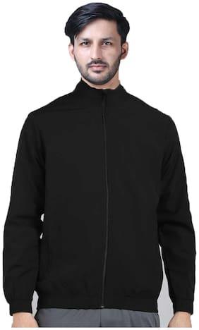 Men Cotton Blend Long Sleeves Sports Jacket