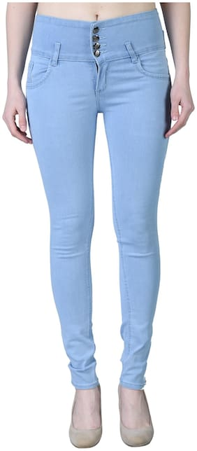 EditLook Women Blue Skinny fit Jeans