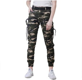 EditLook Women Regular fit Mid rise Printed Jogger - Multi