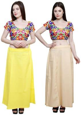 eFashion Women Cotton Saree Petticoats Inskirt Skirt Underskirt COMBO of 2