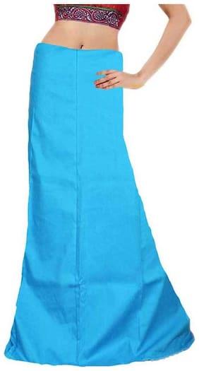 eFashion Women Cotton Sky Blue Saree Petticoats Petticoat Inskirt Skirt Underskirt