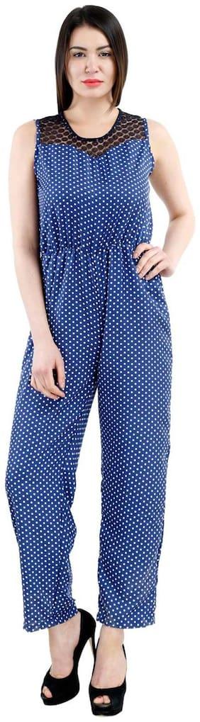 Westrobe Printed Jumpsuit - Beige