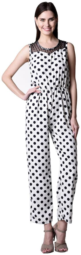 Westrobe Polka dots Jumpsuit - White