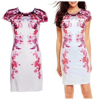 Party Women Elegant Printed Slim Floral Dress S ROqwa6
