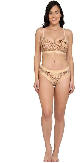 Elina Animal print Push-up bra - 2 Lingerie Set