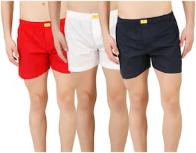 Solid Cotton Boxers