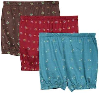 ELK Pack Of 3 Printed Low waist Boyshorts - Multi