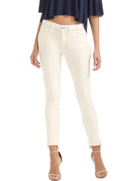 ELLE White Cotton Mid Rise Skinny Fit Jeans