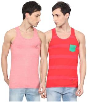 Emerging Fashion 21 2 Sleeveless Round neck Vest - Multi