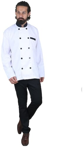 EMFORMALS Premium White Double Breasted Chef Coat/ Jacket for Mens