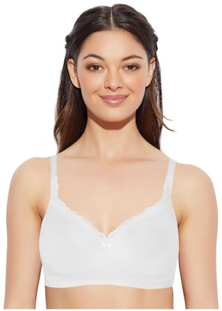 05bf56a076d5d Buy Enamor 1 Padded Cotton T-shirt Bra - White Online at Low Prices ...